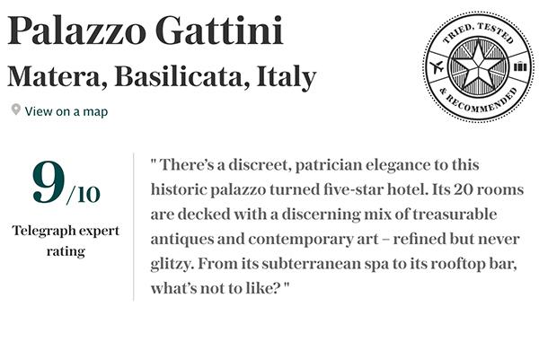 Recensione Telegraph - Palazzo Gattini
